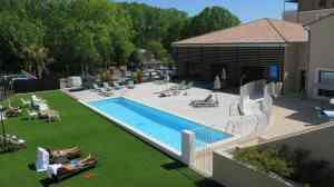 Der Aussenbereich des Vichy Spa wurde extra für die Schweiz begrünt.